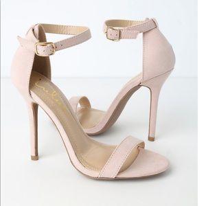 Elsi Nude Single Strap Heel From LuLus